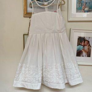 Flower girl white party dress Derhy Kids 6/8 Euc